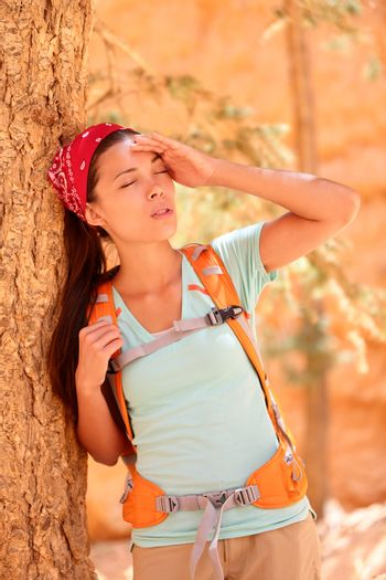 Dehydration thirst heat stroke exhaustion concept