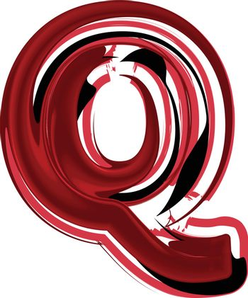 Abstract Letter Q