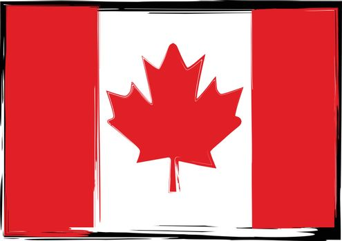 Grunge Canada flag or banner vector illustration
