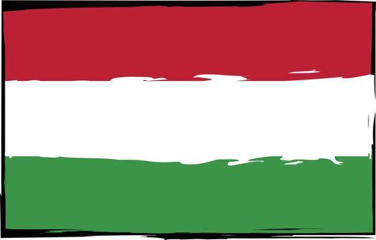 Grunge HUNGARY flag or banner
