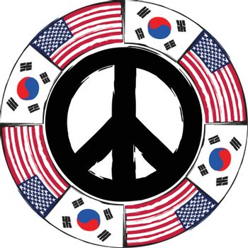 USA and SOUTH KOREA flags or banner illustration