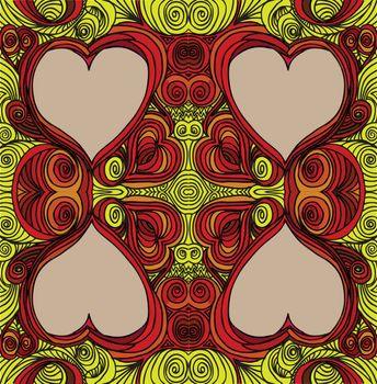 Ornate heart sketch