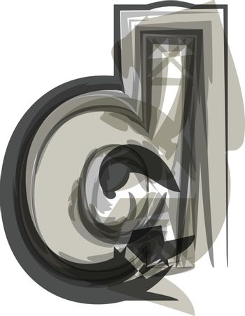 Abstract Letter d