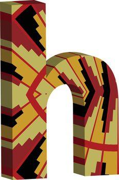 3d font letter h