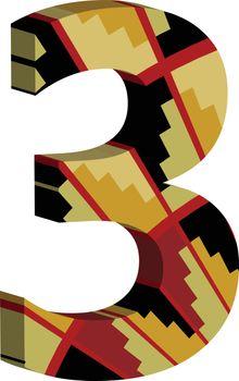 3d font number 3