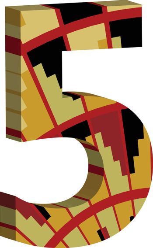 3d font number 5