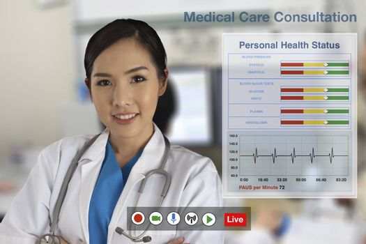 Doctors are currently providing medical consultation to patients through the computerized distance service.
