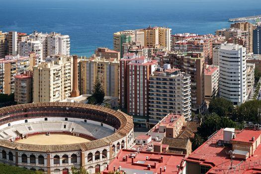 The Bullring arena Plaza de Toros Malaga