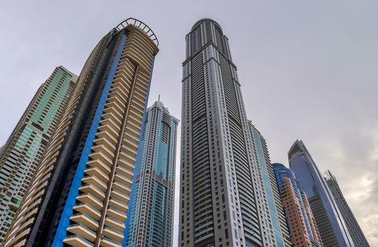 Luxury modern skyscrapers in the center of Dubai city. United Ar