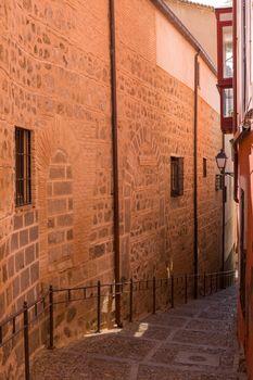 Toledo narrow street in Castile La Mancha, Spain