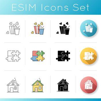 Recreation icons set