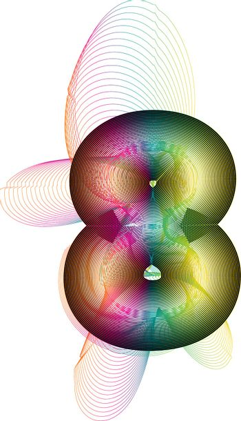 Abstract Colorful Number 8