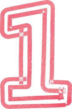 Number 1 vector illustration