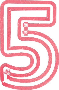 Number 5 vector illustration
