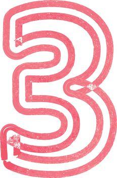 Number 3 vector illustration