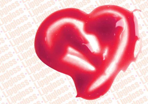 Lip Gloss heart shaped illustration