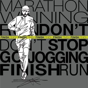male runner sketch illustration