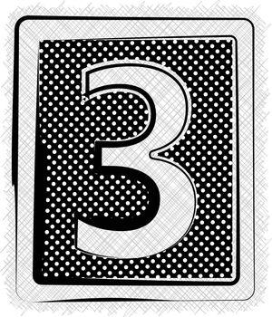 Polka Dot Font NUMBER 3