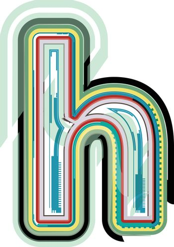 Abstract colorful Letter h