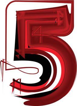 Artistic font number 5