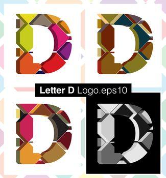 3d font letter D