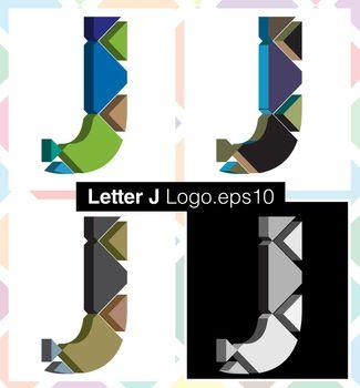 3d font letter J