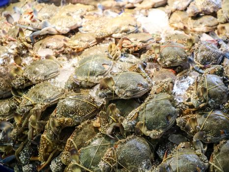 much of crab sell in seafood market