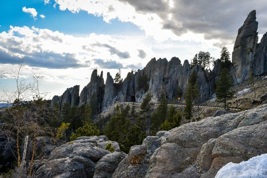 Epic mountain landscape scenery from the preserve forest of the park