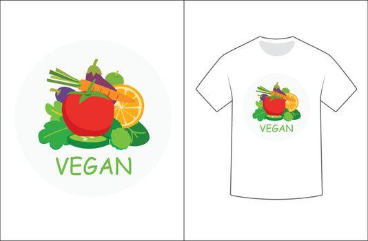 Vegan graphics design for t-shirt.