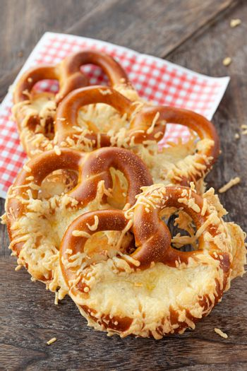 Soft pretzels with cheese
