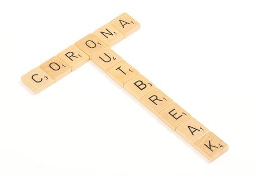 Corona outbreak letters