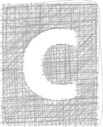 Freehand Typography Letter c