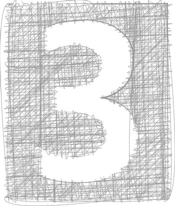 Freehand Typography Number 3