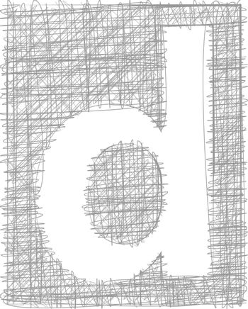 Freehand Typography Letter d