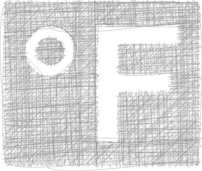 Fahrenheit Freehand Symbol