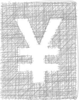 Yen sign - Freehand Symbol