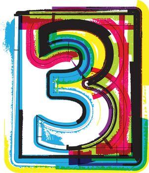 Colorful Grunge Font NUMBER 3