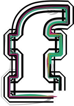 font Illustration Letter f