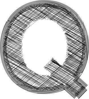 font Illustration Letter Q