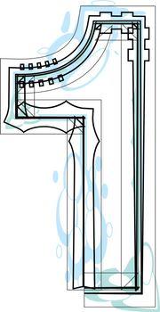 Font illustration NUMBER 1