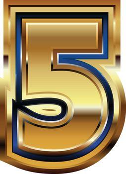 Golden Font Number 5