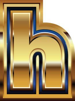 Golden Font Letter h