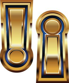 Golden Exclamation mark Symbol