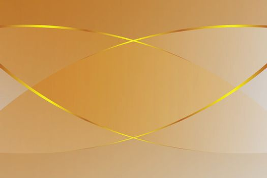 brown gradient color soft light and golden line graphic for cosmetics banner advertising luxury modern background (illustration)