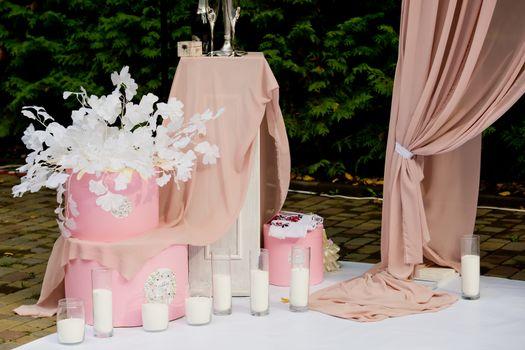 Wedding decorations. Wedding ceremony.