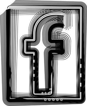 Striped font LETTER f