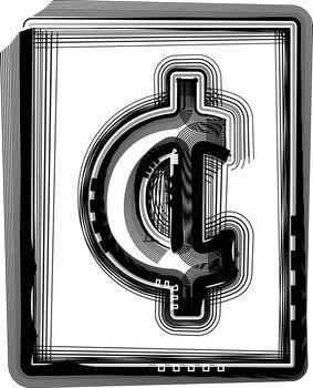 Cent Striped Symbol