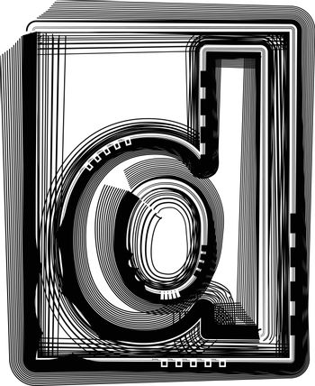 Striped font LETTER d