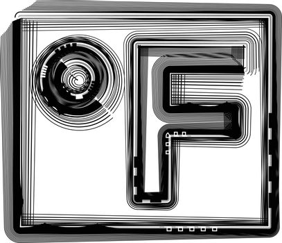 Fahrenheit Striped Symbol