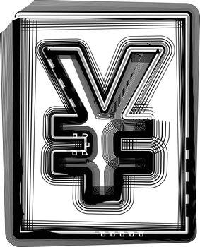 Yen Striped Symbol